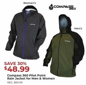 Compass 360 Pilot Point Rain Jacket for Men and Women