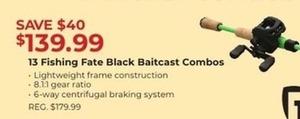 13 Fishing Fate Black Baitcast Combos