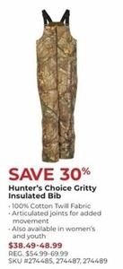 Hunter's Choice Gritty Insulated Bib