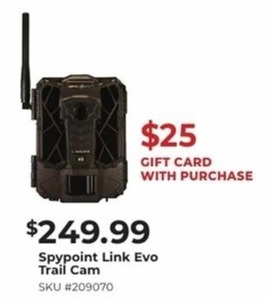 Spypoint Link Evo Trail Cam + $25 Gift Card