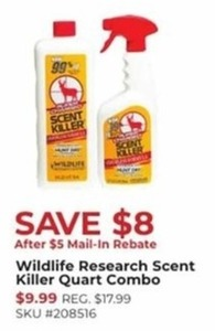 Wildlife Research Scent Killer Quart Combo After Rebate