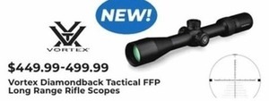 Vortex Diamondback Tactical FFP Long Range Rifle Scopes