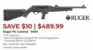 Ruger PC Carbine 9mm Gun