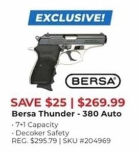Bersa Thunder 380 Auto Hand Gun
