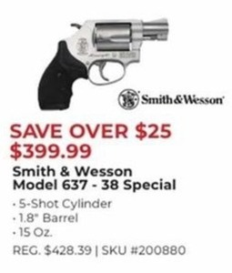 Smith & Wesson Model 637 - 38 Special