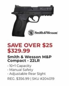 Smith & Wesson M&P Compact 22 LR Hand Gun