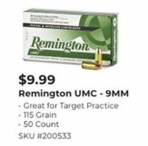 Remington UMC 9 MM Bullets