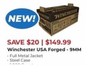 Winchester USA Forged 9 MM