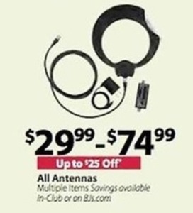 Up to $25 Off All Antennas