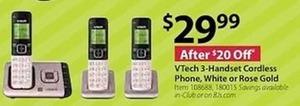 VTech 3 Handset Cordless Phone