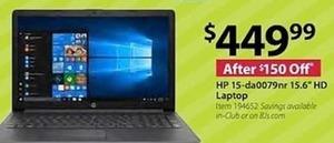 "HP 15-da0079nr 16"" HD Laptop"