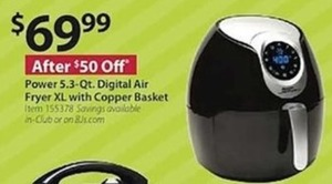 Power 5.3 Qt. Digital Air Fryer
