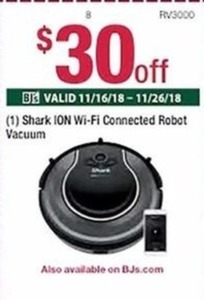 Shark Ion W-iFi Connected Robot Vacuum