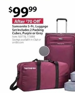 Samsonite 5-Pc. Luggage Set Includes 2 Packing Cubes