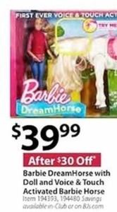 Barbie Dream Horse with Doll And Voice Touch Activated Barbie Horse