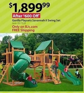 Gorilla Playsets Savannah II Swing Set - Free Shipping