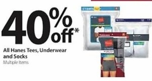 All Hanes Tees, Underware and Socks