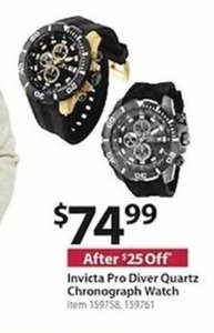 Invicta Pro Diver Quartz Chronograph Watch