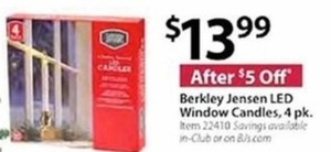 Berkley Jensen LED Window Candles 4 Pk.