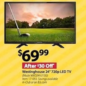 "Westinghouse 24"" 720p LED HDTV"