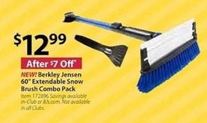 "Berkley Jensen 60"" Extendable Snow Brush Combo Pack"