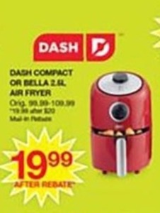 Dash Compact or Bella Air Fryer - After Rebate
