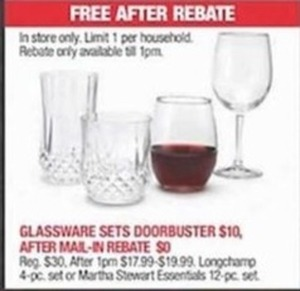 After Rebate - Glassware Sets