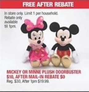 After Rebate - Minnie or Minnie Plush