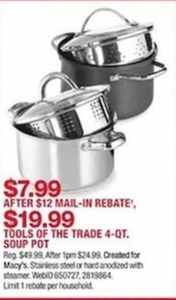 Tools of the Trade 4-Qt. Soup Pot - After Rebate