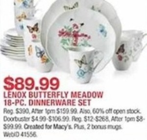 Lenox Butterfly Meadow 18 Pc. Dinnerware Set
