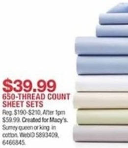 650-Threat Count Sheet Sets