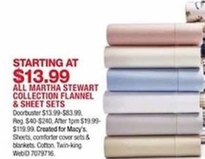 All Martha Stewart Collection Flannel Sheet Sets