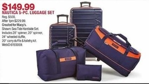Nautica 5 Pc. Luggage Set