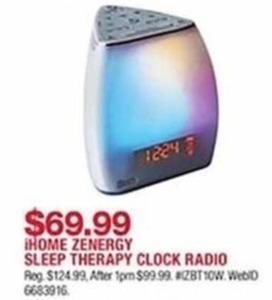 Home Zenergy Sleep Therapy Clock Radio