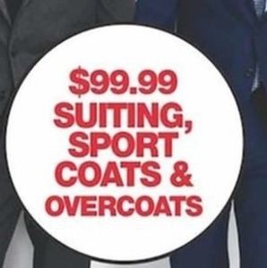 Suiting, Sport Coats and Overcoats