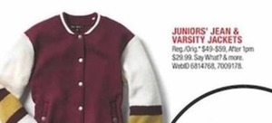 Juniors' Jean & Varsity Jackets
