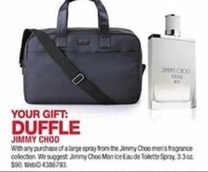 Jimmy Choo Duffle w/ Men's Fragrance Purchase
