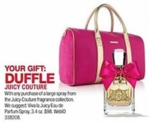 Duffle w/ Juicy Couture Fragrance Purchase