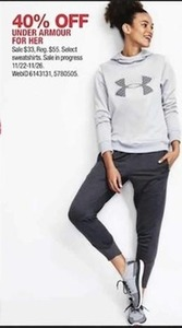 Under Armor for Her, Select Sweatshirts