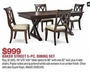 Baker Street 5 Pc. Dining Set