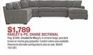 Radley 5-Piece Chase Sectional