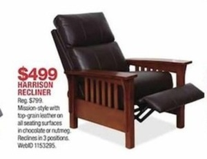Harrison Mission-Style Recliner