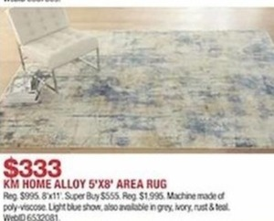 KM Alloy 8' x 11' Area Rug
