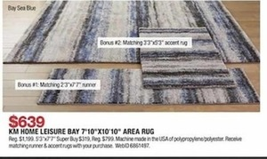 KM Home Leisure Bay Area Rug