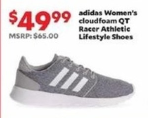 Adidas Women's Cloudfoam QT Racer Athletic Lifestyle Shoes