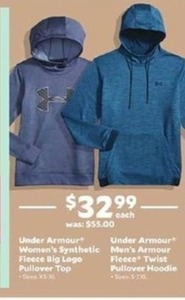 Under Armour Men's Armour Fleece Twist Pullover Hoodie