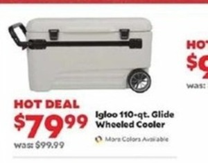 Igloo 110-qt Glide Wheeled Cooler
