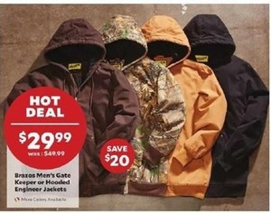 Brazos Men's Gate Keeper or Hooded Engineer Jackets