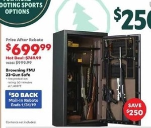Browning FMJ 23-Gun Safe - After Rebate