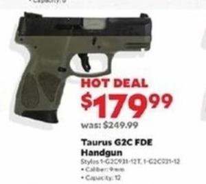 Taurus G2C FDE Handgun